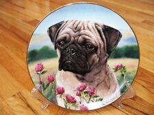 Danbury Mint Simon Mendez Prairie Pug Dog Plate Mint