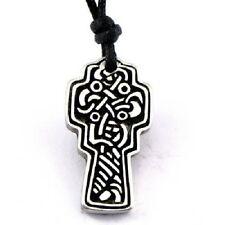 Irish Pewter Celtic Cross with Adustable Black Cord