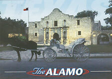"""*Postcard-""""A Horse & Carriage""""...in front of The Alamo"""" ...San Antonio, Tx (B4)"""