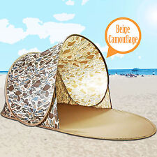 Beige Portable Camouflage Pop Up Beach Shelter Outdoor  Sun Shade Tent Canopy