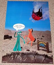 GUMBY POKEY Knocks Me Out Meteor Crater Poster 1987 Prema Toy #72 WestGraphics