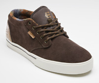 Etnies Mens BARGE PRESERVE BROWN/BLUE Skateboard Shoes Trainers Size 9 Free Ship