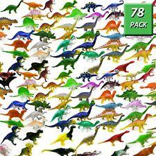 78 Realistic Dinosaur Toys Plastic Figures Assorted Pack Jurassic Park Lot Kids