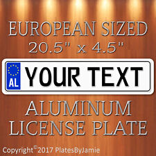 Custom ALBANIA Albanian EURO Style Personalized Vanity license plate tag New