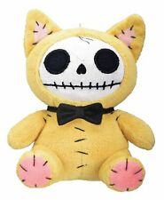 Furrybones Yellow Cat Mao Mao w/ Black Bow Tie Skull Skeleton Small Plush Doll