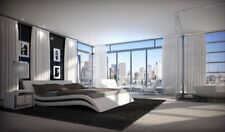 Luxus Bett ACCENT Ehebett in weiss mit Wellen Form modernes Designer Doppelbett