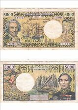 Billet banque FRENCH PACIFIC TAHITI POLYNESIE OUTRE-MER 5000 F étatvoirscan 773
