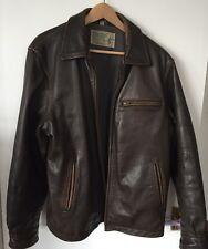 Original t.p. selle couverture & trasing co. veste en cuir taille l