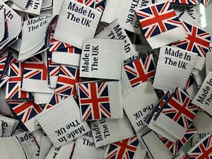Made In The UK, Labels, Made in England, Labels With Union jack Flag,