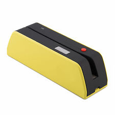 MSR-X6BTUSB  Magnetic Stripe Credit Reader Writer Encoder 1/3 Size of MSR Yellow