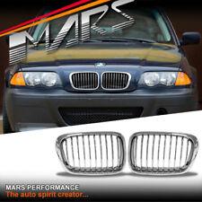 Chrome Bumper Grille Grill for BMW E46 Sedan 98-01 318i 320i 323i 325i 328i 330i