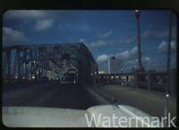 1960 kodachrome  photo slide Long Allen bridge Cars  Shreveport LA