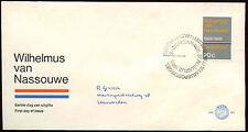 Paesi Bassi 1968 olandese INNO NAZIONALE FDC primo giorno Coperchio #C 27336
