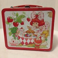 Aladdin Strawberry Shortcake Vintage 1985 Metal Lunchbox Strawberryland Kids Tin