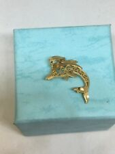 10K Yellow Gold Dolphin Charm 0.7 Grams Free Shipping