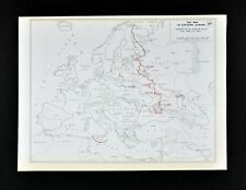 West Point WWII Map Russian Front Changes 1942-3 Russia Ukraine Finland Crimea