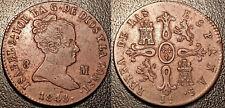 Espagne - Isabel II - 8 maravedis 1848 Ja JUBIA SUP+ ! KM#531.2