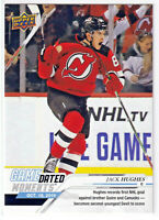 2019-20 UD Game Dated Moments #10 Jack Hughes Devils First Goal Rookie