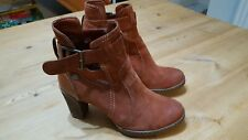 Womens Clarks Softwear Leather Ankle Boots Chestnut Brown Size 5.5.