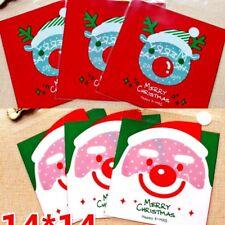 20x Christmas Gift Bags santa reindeer Treat Lollies Bag Macaron Cookie DIY 14CM