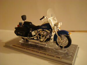 Harley Davidson Flstci Heritage Softail Classic 2006 Blue -topmodell 1:24