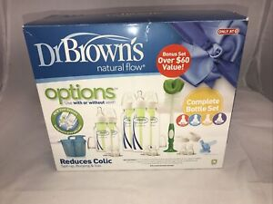 Dr Brown's Natural Flow Options+ anti-colic Bottle Set