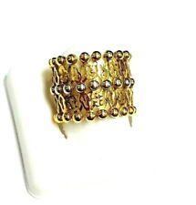 18k two-tone gold flexible ring convertible into a bracelet