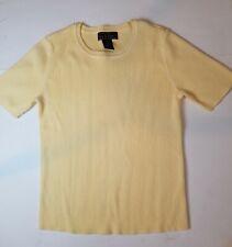 Laura Scott Women's Yellow Short-Sleeved Sweater Size M Looks New
