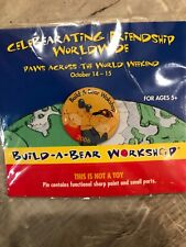 New listing Build-A-Bear Workshop 2006 Paws Across the World Collector Lapel Pin Pinback New