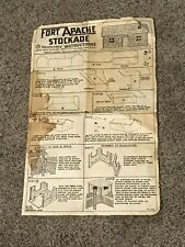 Vintage Marx Fort Apache Stockade Play Set Assembly Instructions Complete