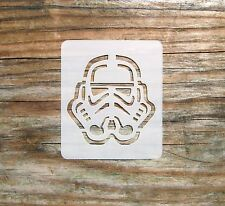 Star Wars Stormtrooper Face Painting Stencil 7cm x 6cm 190micron Washable Mylar