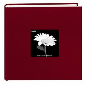 Pioneer Fabric Frame Cover Photo Album 200 Pockets Hold 4x6 Photos, Burgundy