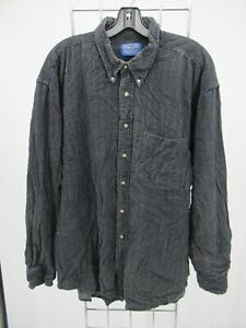 I7458 VTG Men's Pendleton Button-Down Long-Sleeve Hounds Tooth Shirt Size 2XL