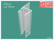 PVC PLASTIC SHOWERSCREEN SHOWER SCREEN DOOR WATER SEAL STRIP FOR 10MM 2M