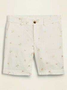 "Old Navy 7"" Linen Blend Palm Print Shorts  Sz: 4  NWOT"
