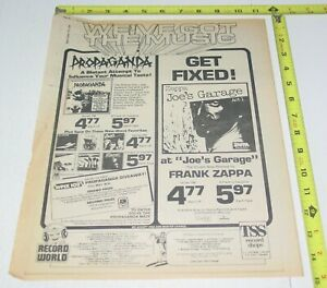 Frank Zappa Police Album AD Advert 1979 Joe's Garage Outlandos Sting Rock Wave