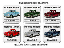 MORRIS MINOR  UTE     SET OF  6   RUBBER DRINK  COASTERS