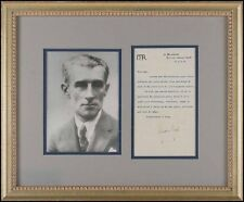 Maurice RAVEL (Composer): Signed Letter to Henry PRUNIERES, framed w/ Photo