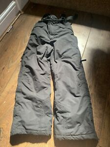 Kids Waterproof Black Padded Salopettes Ski Trousers Age 7-8 By Trespass