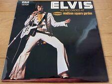 Elvis Presley 1972 Elvis As Recorded At Madison Square Garden LP Vinyl UK
