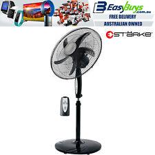 Pedestal Fan 50cm Black 3 Speed with Remote, Tilt & Oscillating Height & Timer