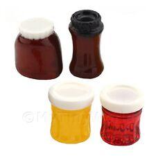 Miniatura Para Casa De Muñecas Juego de 4 Resina Comida tarros y etiquetas