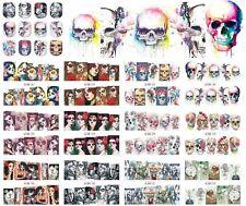Nail Art Stickers Decals Transfers Halloween Skulls Zombies Pumpkinhead