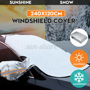 4 Layers Car Windshield Snow Cover Mirror Covers Ice Sun Frost Wind WaterProof