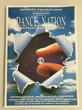 ENTROPY PROMOTIONS DANCE NATION CHESHIRE 1992 RAVE FLYER FLYERS