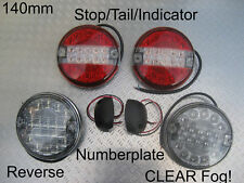 LED SLIM Hamburger CLEAR Indicator Fog Reverse Numberplate Rear light/lamps