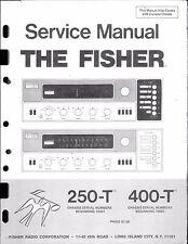 Fisher Service Manual per 250-t 400-t