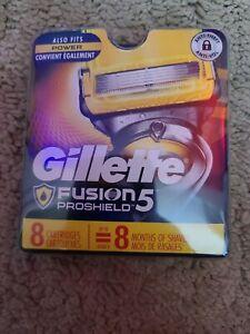Gillette Proglide Shield Mens Razor Blade Refill Cartridges - 8 Count  Free S&H