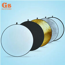 """New 32""""/80cm 5-in-1 Photo Studio Multi-Disc Collapsible Light Reflector"""