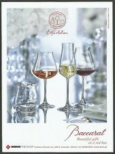 BACCARAT Wine glasses CHATEAU BACCARAT - 2018 Print Ad